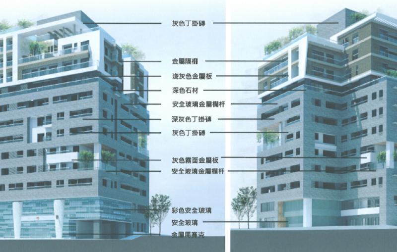 臺北市信義區犁和段三小段302、303地號公有土地都市更新案發展構想圖