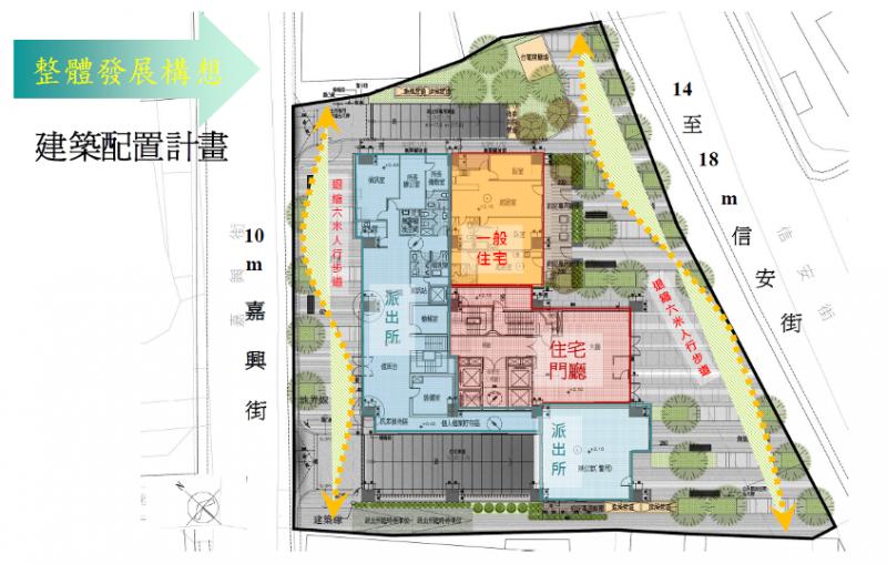 臺北市信義區犁和段三小段302、303地號公有土地都市更新案初步規劃圖