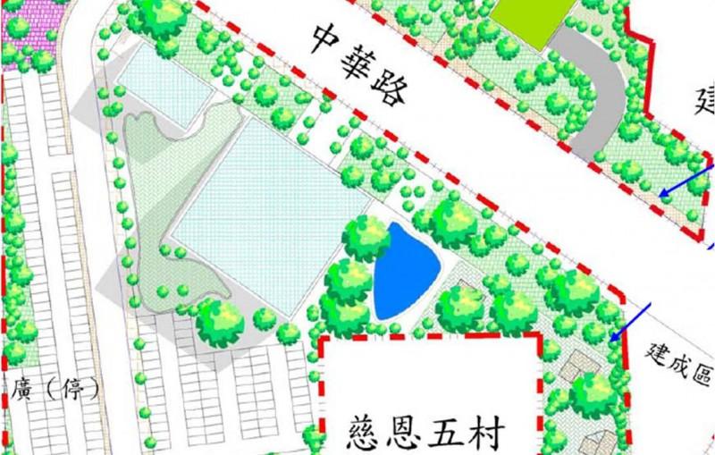 臺南市永康區飛雁新村都市再生計畫代表圖
