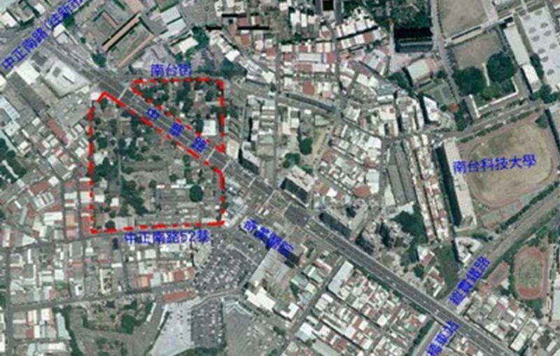 臺南市永康區飛雁新村都市再生計畫基地位置圖