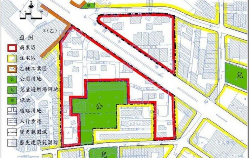 臺南市永康區飛雁新村都市再生計畫土地使用分區圖