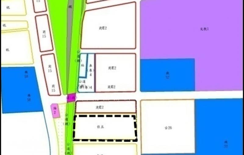 臺南市鐵路地下化拆遷安置更新規劃招商案土地使用分區圖