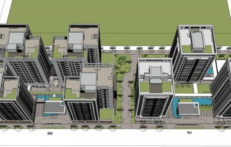 臺南市鐵路地下化拆遷安置更新規劃招商案發展構想圖