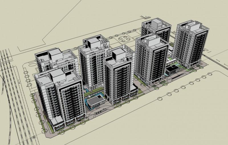 臺南市鐵路地下化拆遷安置更新規劃招商案代表圖