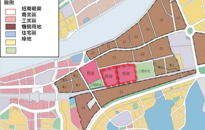 臺北市南港調車場都市更新招商開發案土地使用分區圖