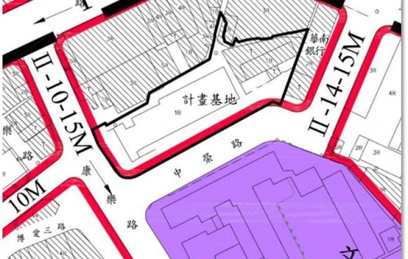 桃園市中壢區中興巷公有土地都市更新規劃招商作業土地使用分區圖