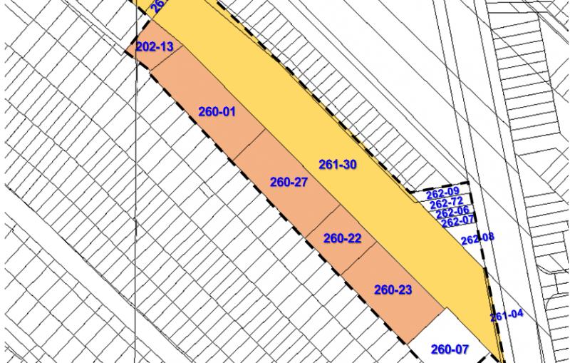 高雄捷運鳳山國中站周邊地區都市更新案土地權屬分佈圖