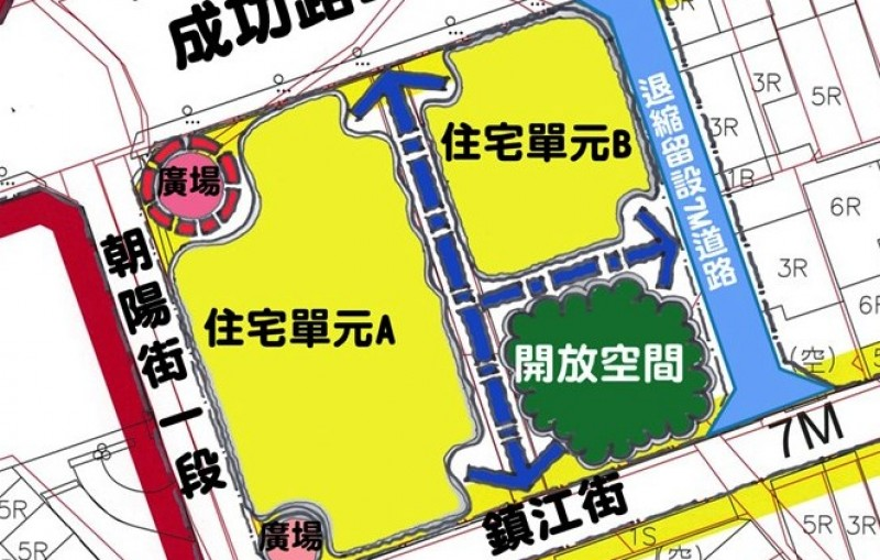 桃園市東門停車場(桃園區東門段208-1地號等14筆土地)公辦都更案發展構想圖